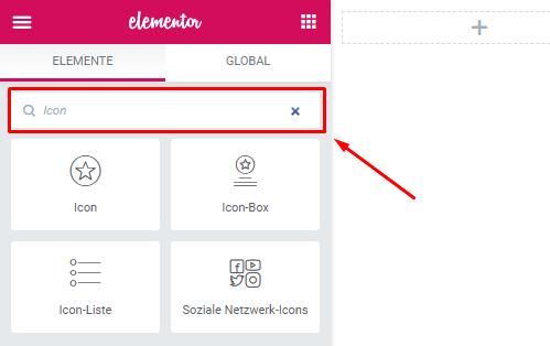 Elementor Icon Modul