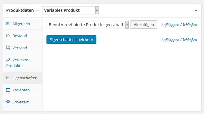 Variable Produkte in Woocommerce einrichten
