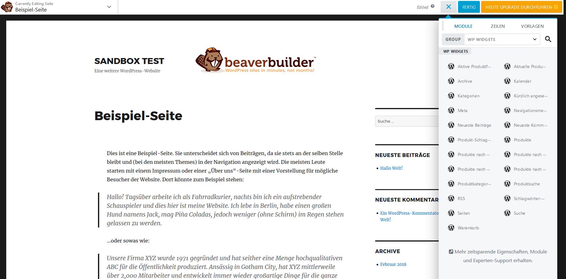 Beaver Builder Screenshot