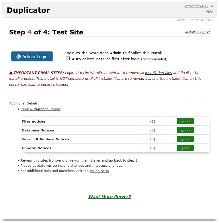 Website migrieren Schritt 5