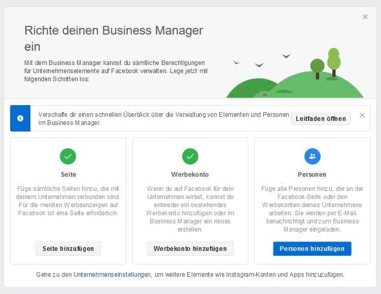 facebook business manager dashboard