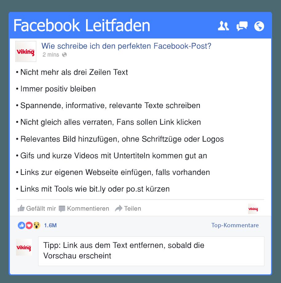Facebook Leitfaden
