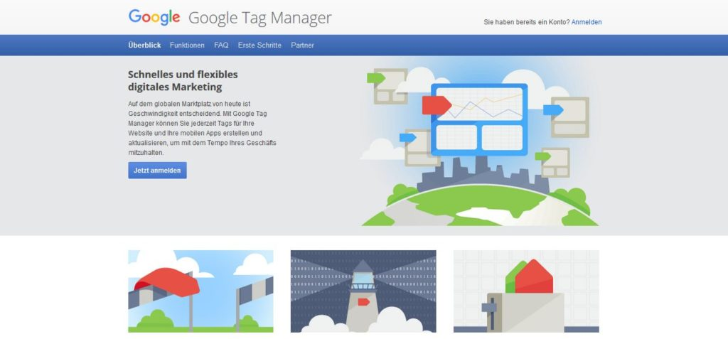 Google Tag Manager Startseite