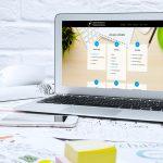 Professionelles Webdesign Notebook mit geöffneter Webpage Webdesign Services