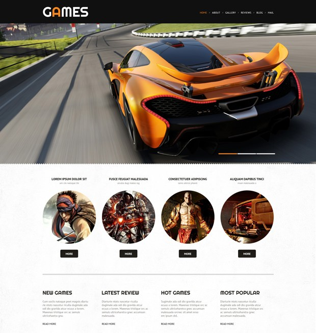 Wordpress Theme Spieleportal