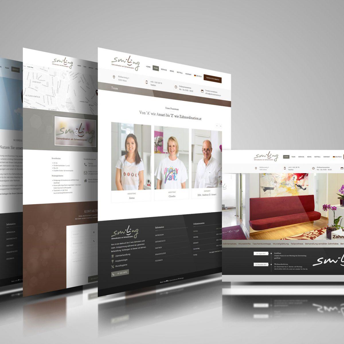 Webdesign Beispielprojekt Zahnarztpraxis DDr. Ansari