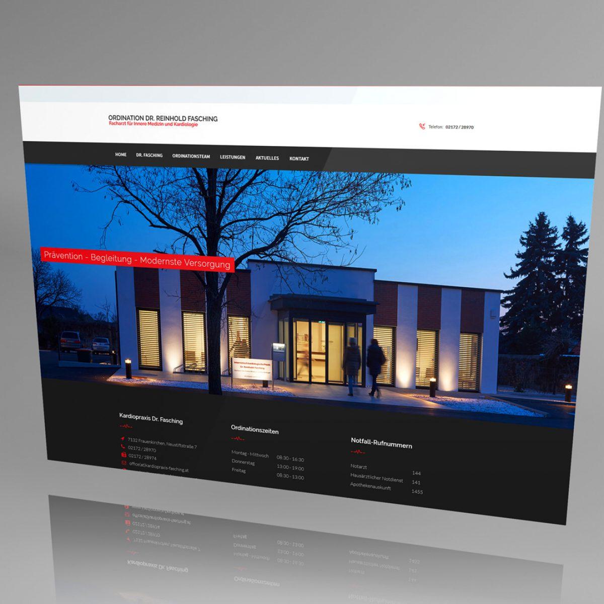 Webdesign Beispielprojekt Arztpraxis Dr. Fasching