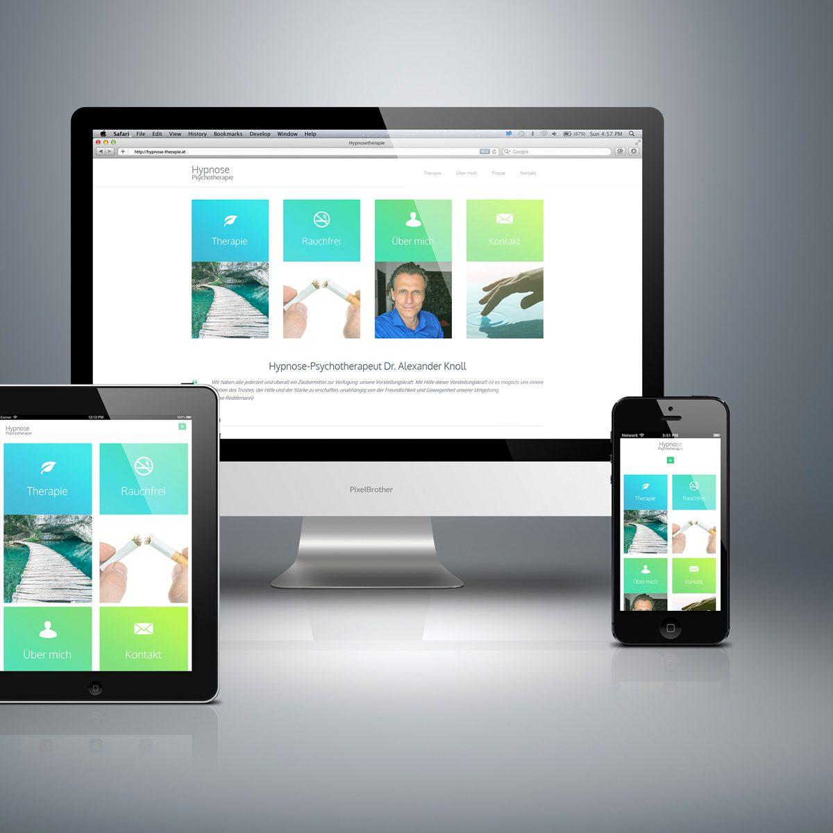 Webdesign Beispielprojekt Hypnosetherapie Dr. Knoll