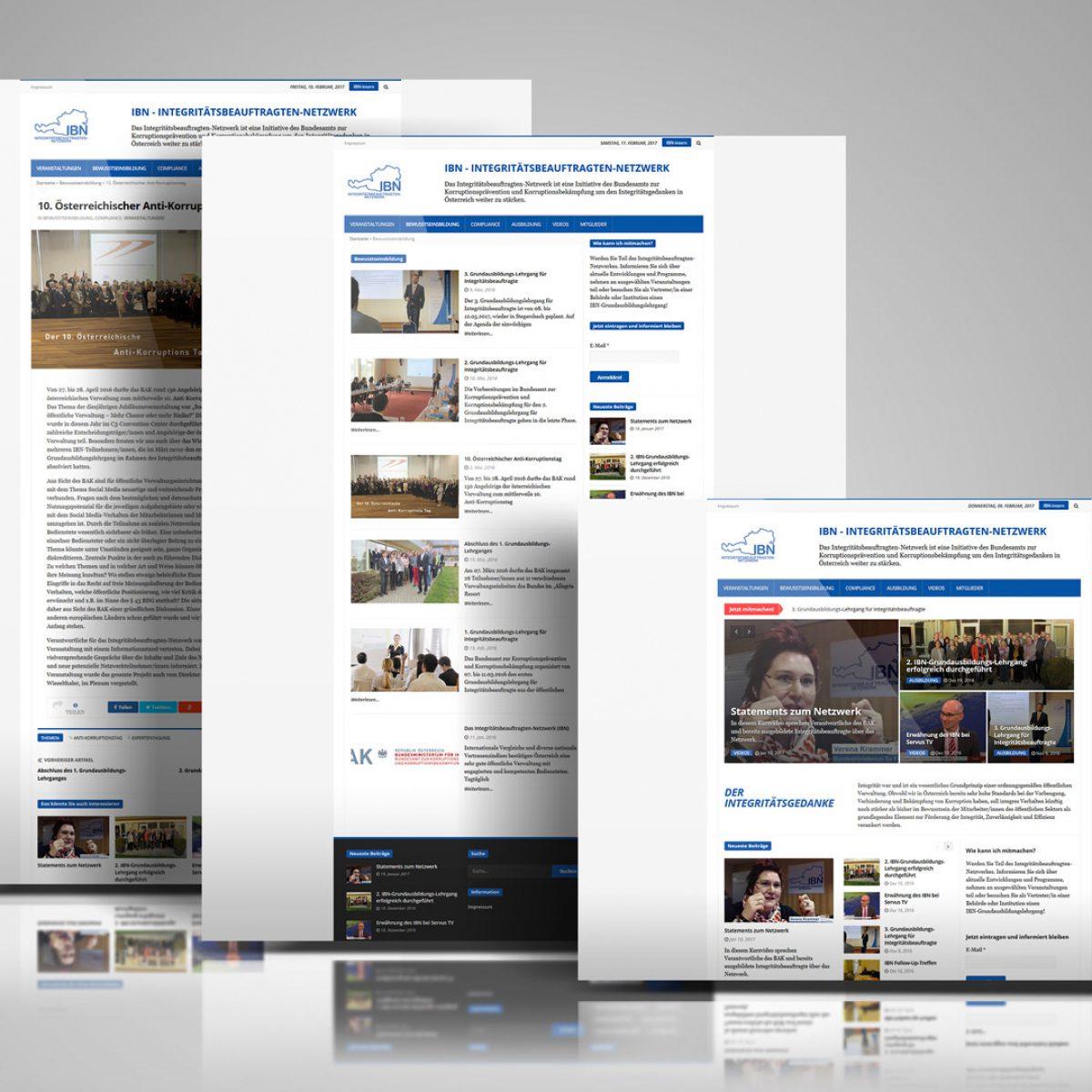 Webdesign Beispielprojekt Integritätsbeauftragten-Netzwerk