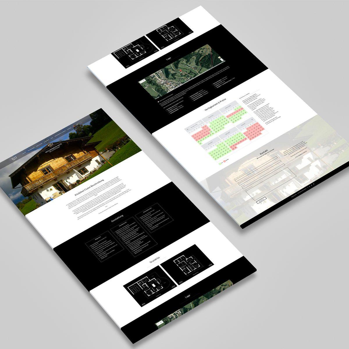 Webdesign Beispielprojekt Kitz Chalet