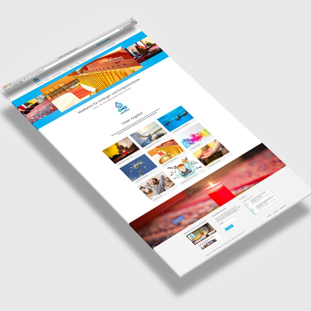 Webdesign Beispielprojekt Meditas Meditationszentrum