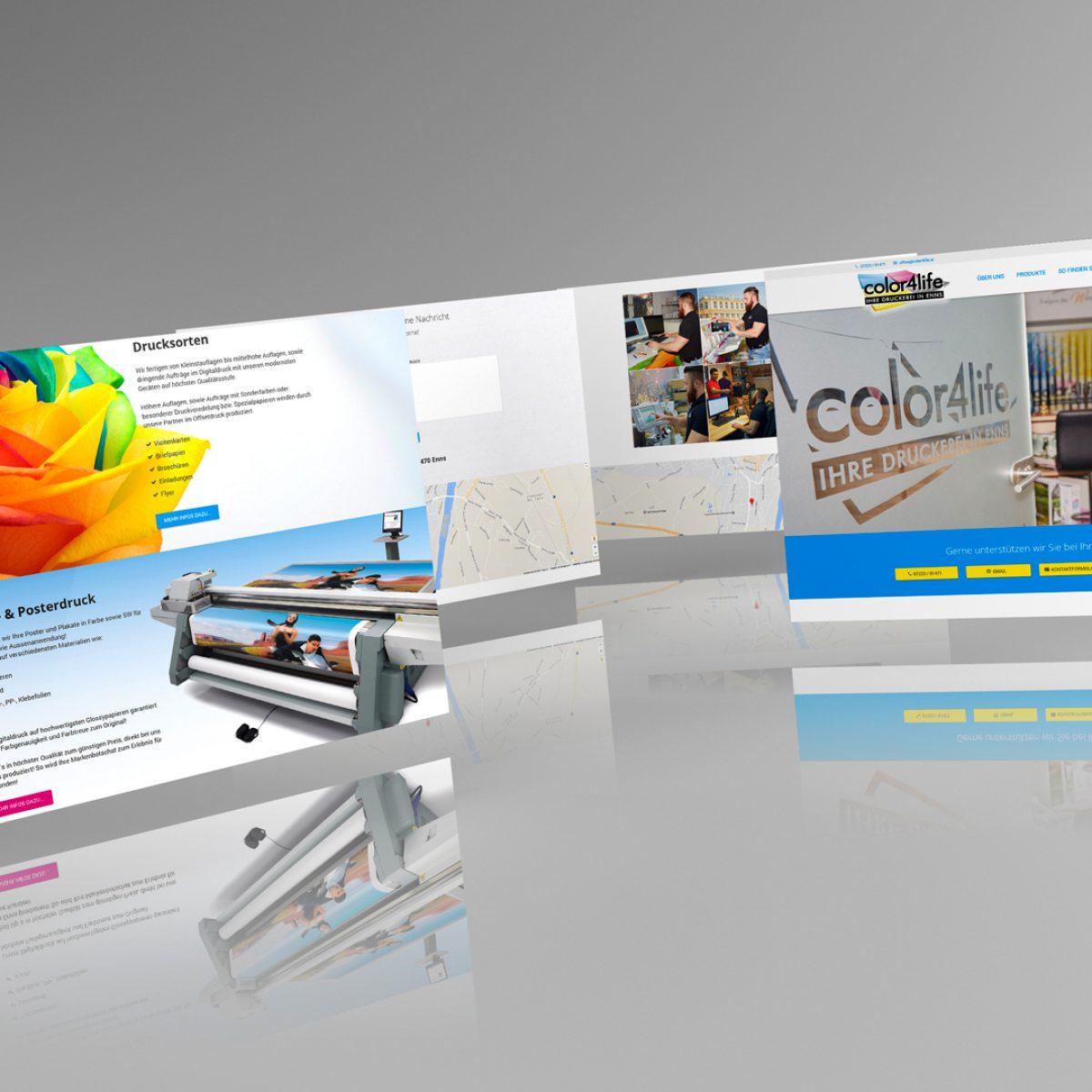 Webdesign Beispielprojekt Druckerei Color4life