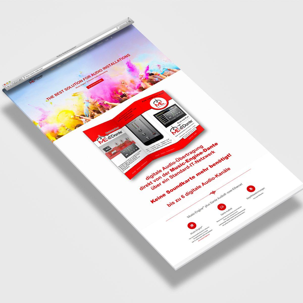 Webdesign Beispielprojekt Dante Audio