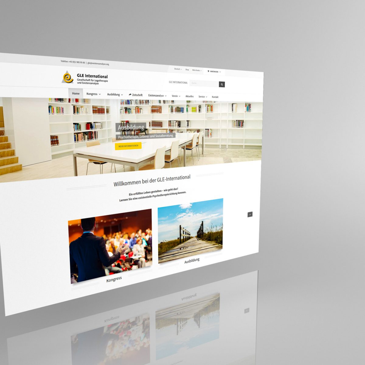 Webdesign Beispielprojekt GLE International