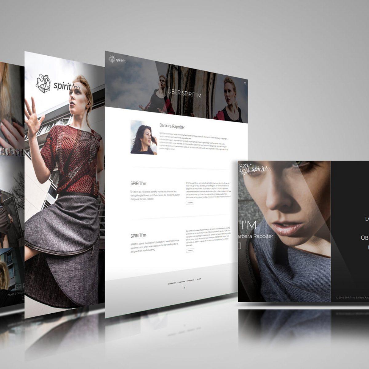 Webdesign Beispielprojekt Spiriti'm Modedesign
