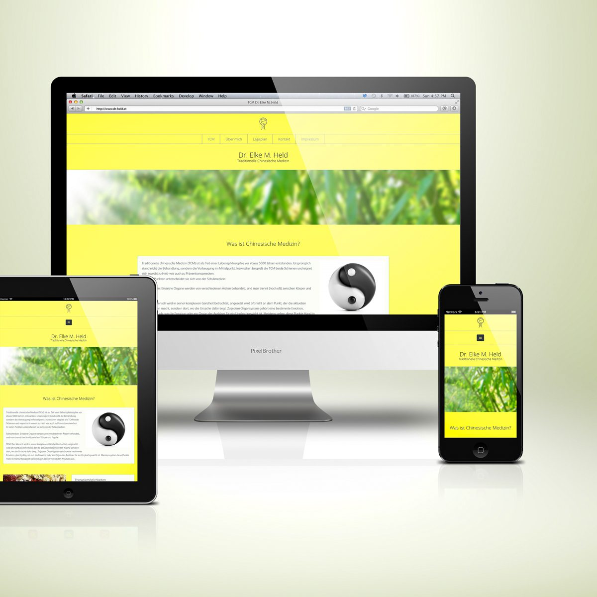 Webdesign Beispielprojekt TCM Arztpraxis Dr. Held