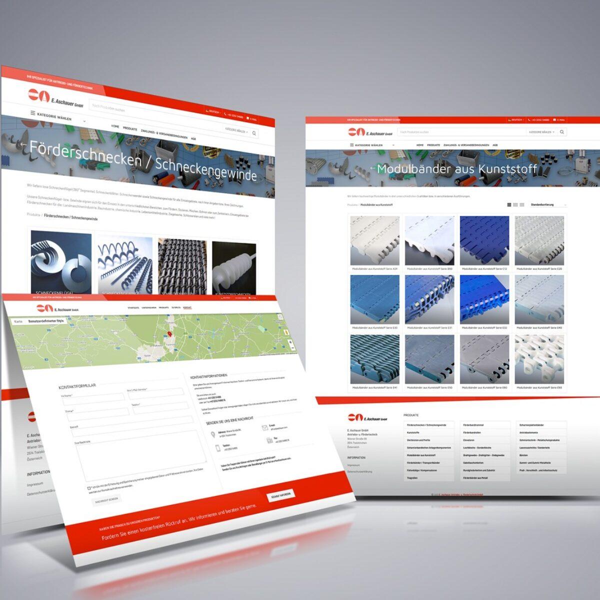 Webdesign Beispielprojekt E. Aschauer GmbH