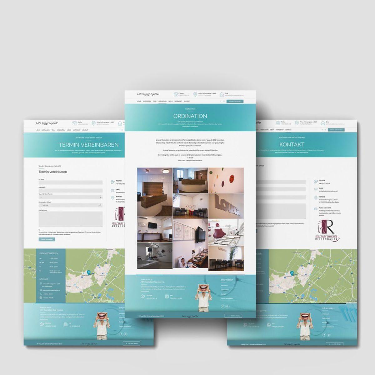 Webdesign Beispielprojekt DDr. Reisenbauer
