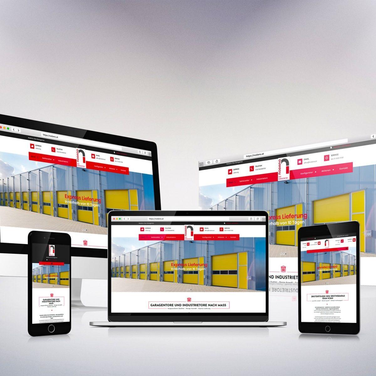 Webdesign Beispielprojekt Nodano Garagentore