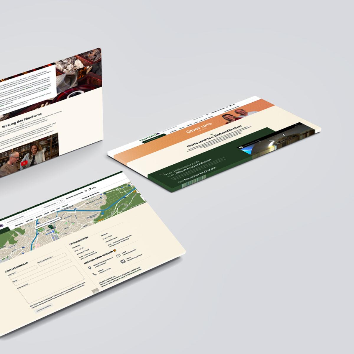 Webdesign Beispielprojekt räucher.info