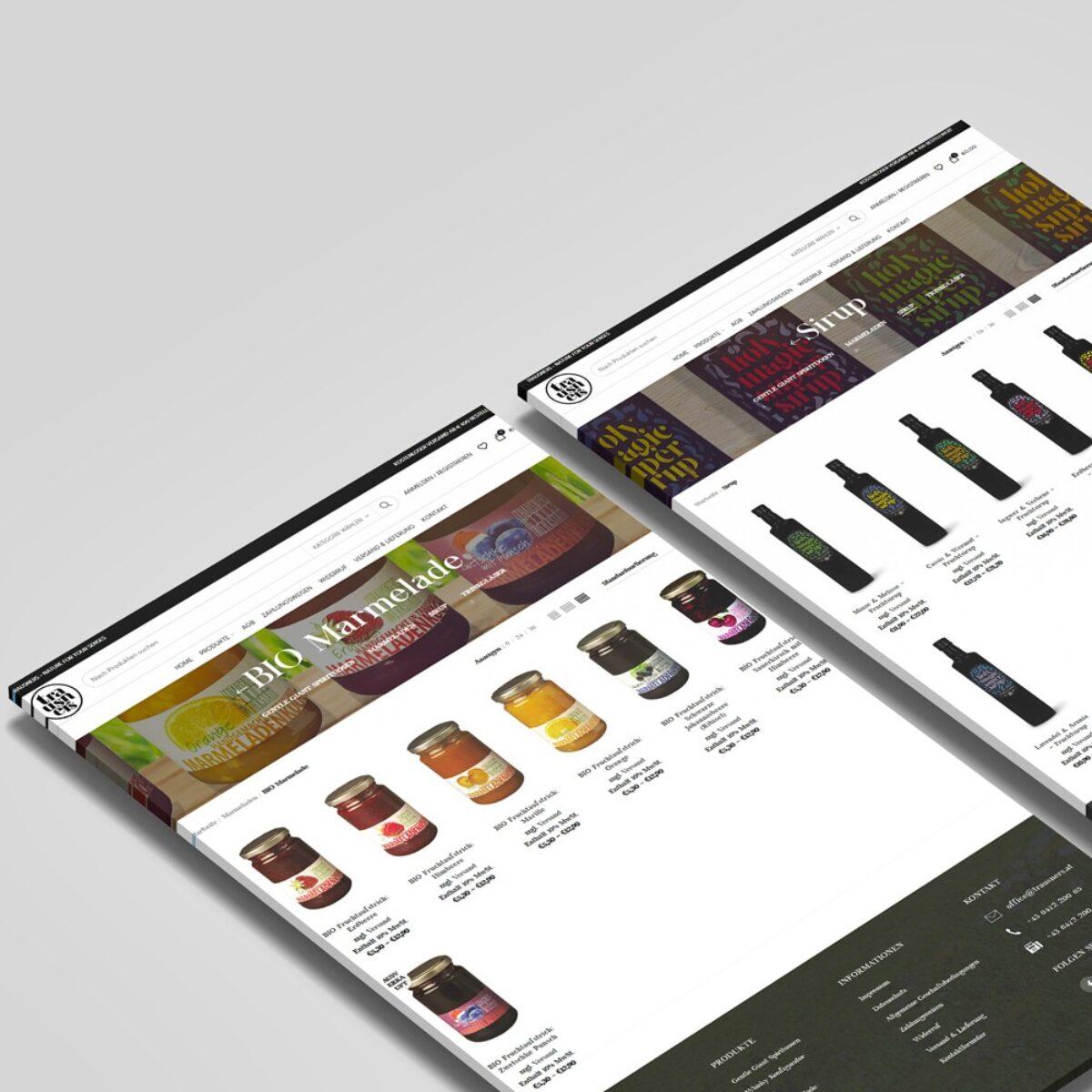 Webdesign Beispielprojekt Trausner Webshop