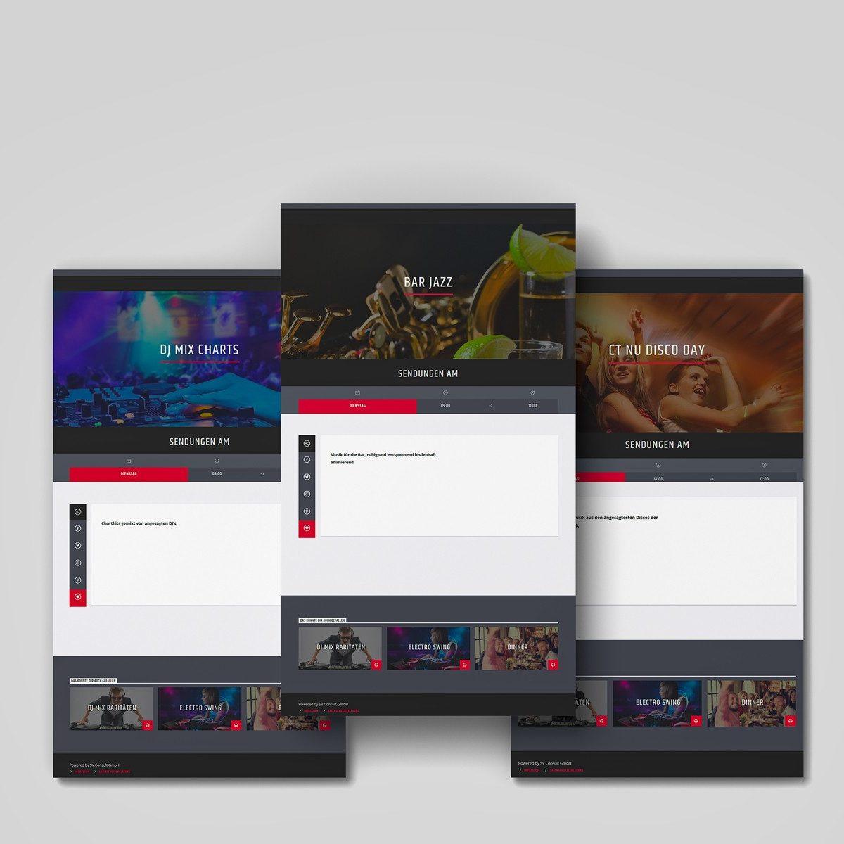 Webdesign Beispielprojekt Trifal Streaming Radio