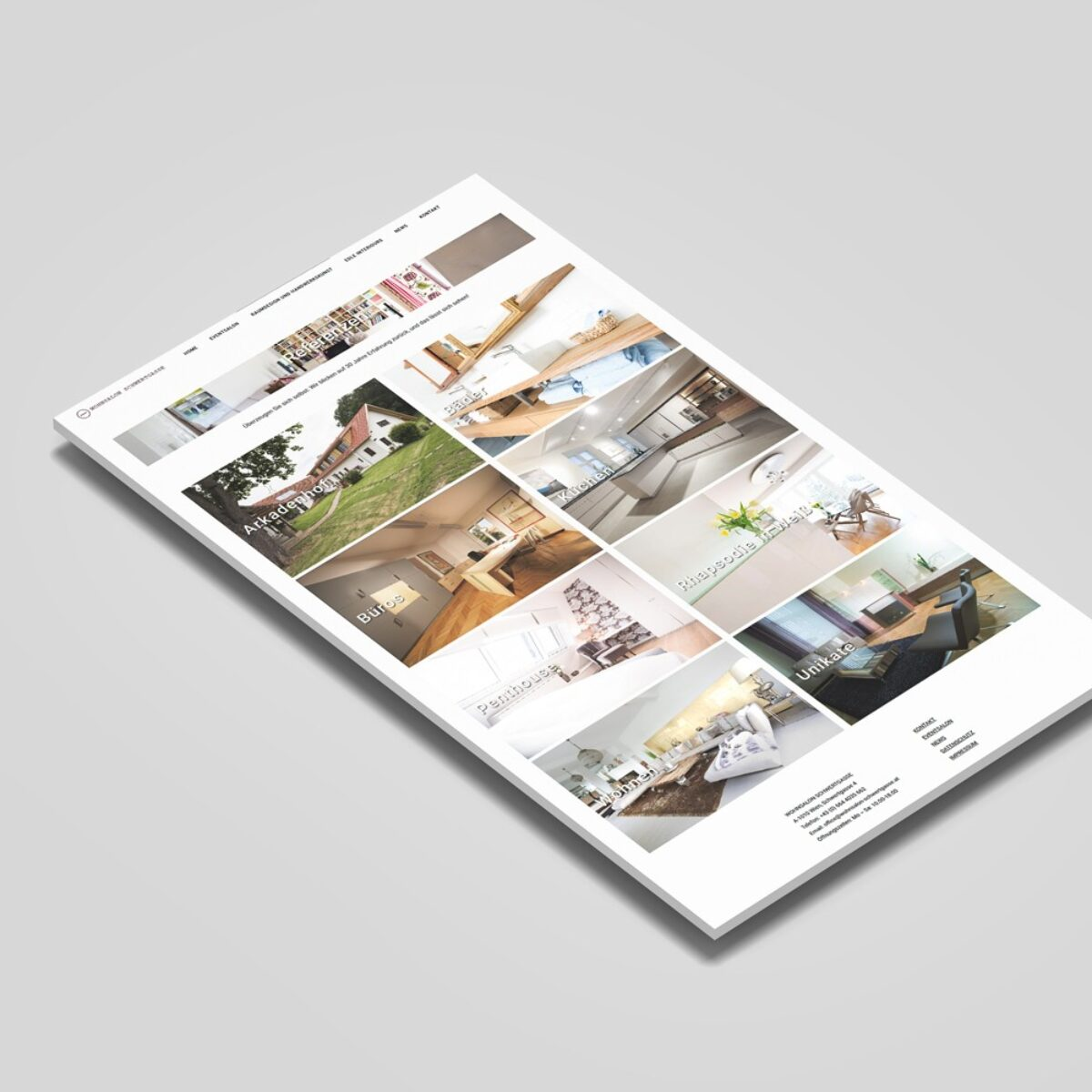 Webdesign Beispielprojekt Wohnsalon Schwertgasse